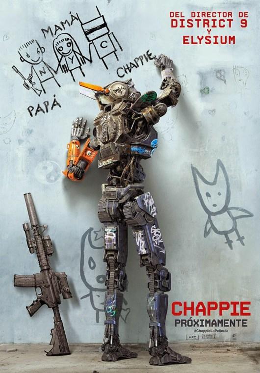 Téaser póster de 'Chappie' del director de 'District 9' y 'Elysium', Neill Blomkamp