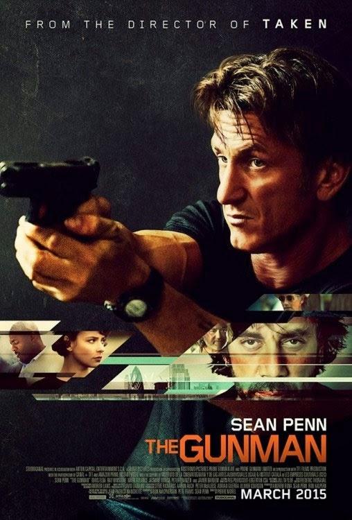 Pósters de 'The Gunman', con Sean Penn al frente de la acción