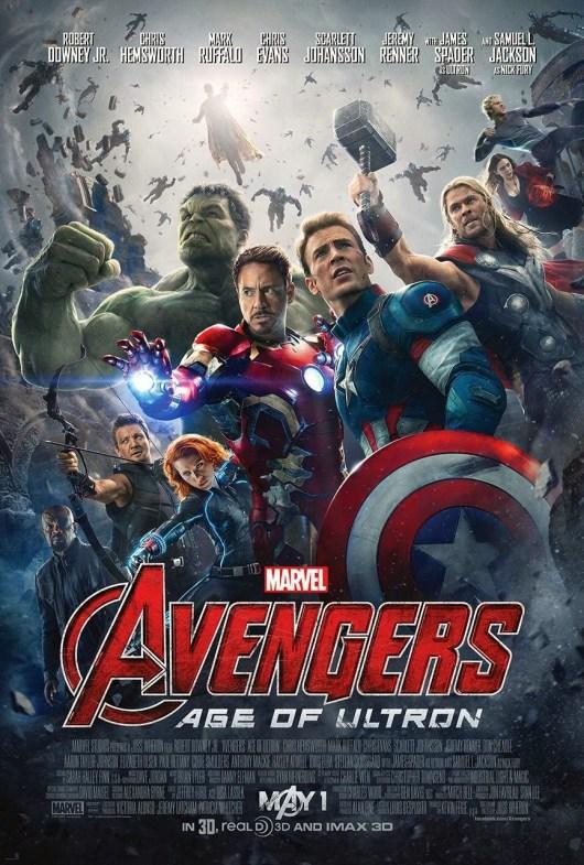 Póster oficial de 'Vengadores: La era de Ultrón' con toda la tropa al completo