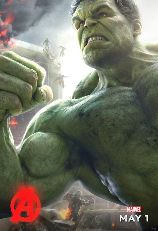 Nuevo póster individual de 'Vengadores: La era de Ultrón' centrado en Hulk