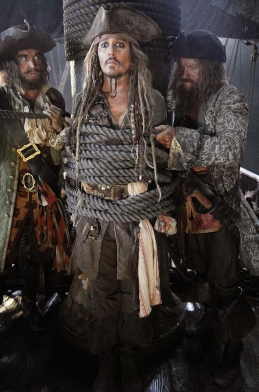 Primera foto de Johnny Depp en el rodaje de 'Pirates of the Caribbean: Dead Men Tell No Tales'