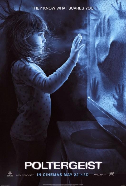El nuevo póster de 'Poltergeist' recrea la escena más mítica de la original