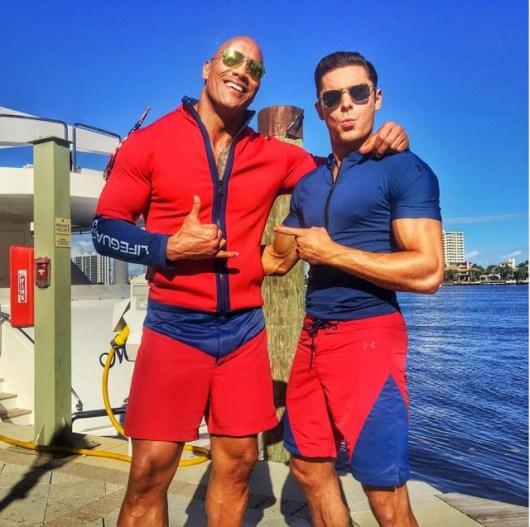Primeras fotos del rodaje de 'Baywatch' ('Los vigilantes de la playa') con Dwayne Johnson y Zac Efron