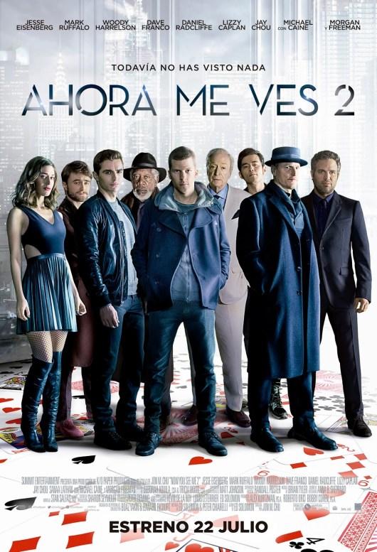 Póster oficial español de 'Ahora me ves 2'