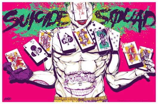 Póster del Joker de 'Escuadrón Suicida' diseñado por Mondo