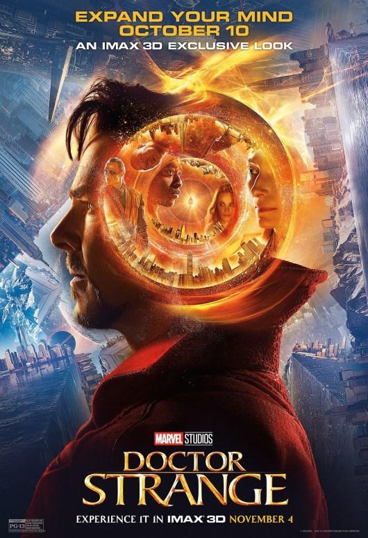 Remesas de pósters de personajes y póster IMAX de 'Doctor Strange (Doctor Extraño)'