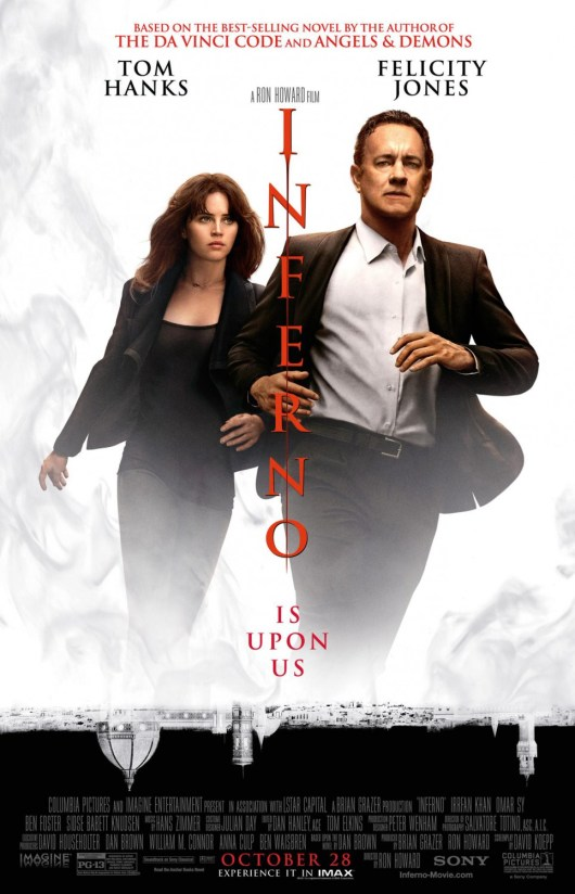 Nuevo póster internacional de 'Inferno' de Ron Howard con Tom Hanks