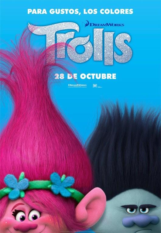 Banderolas de personajes y póster de 'Trolls'