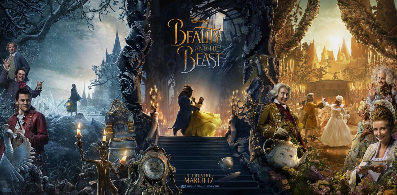 'La Bella y la Bestia': Póster tríptico con todo el reparto de la nueva adaptación de Disney