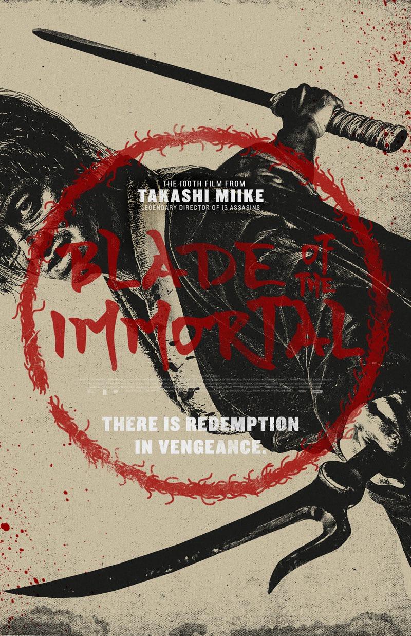 'Blade of the Inmortal': Nuevo póster de la adaptación de Takashi Miike de 'La espada del Inmortal'