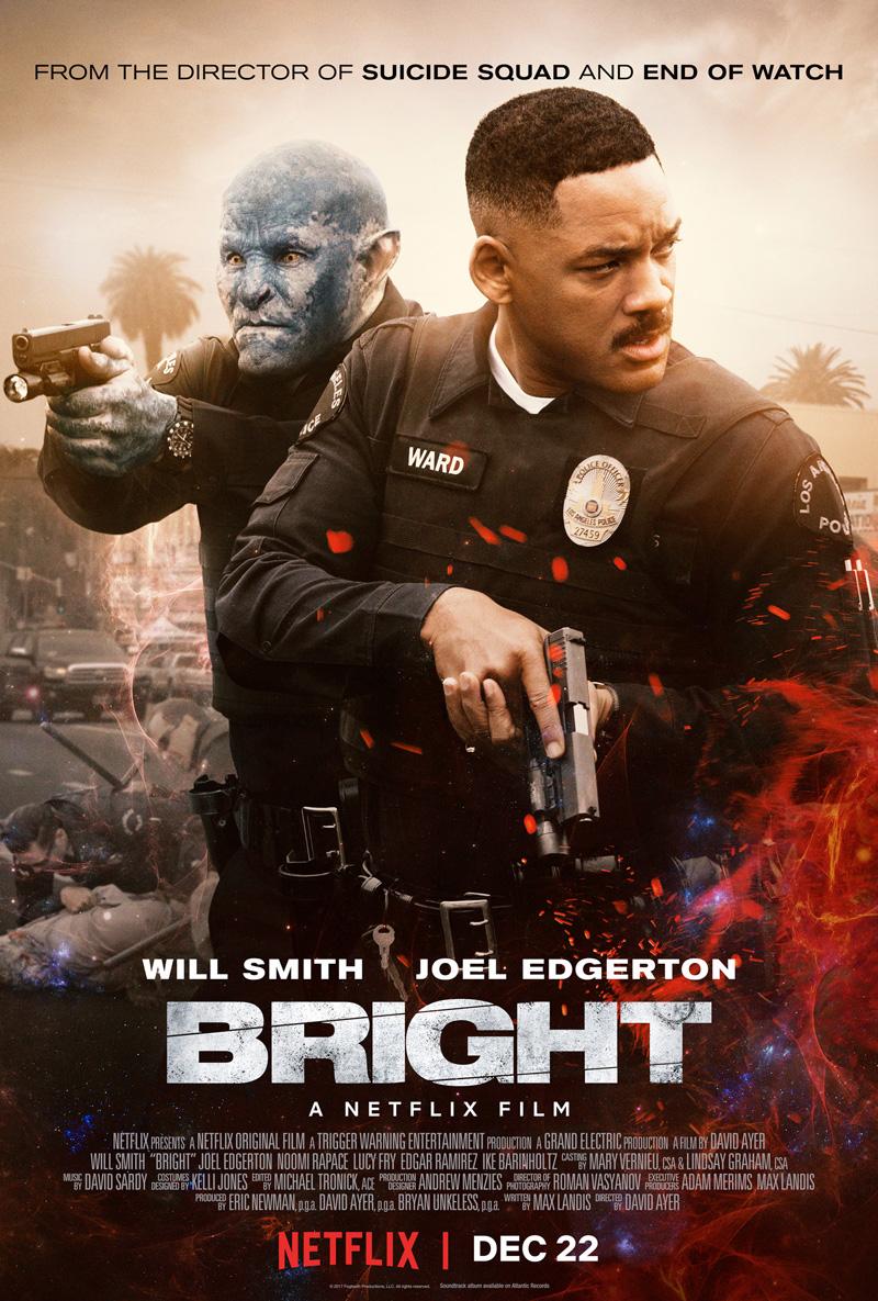 'Bright': Nuevo póster de la película de Netflix con Will Smith, Joel Edgerton y Noomi Rapace
