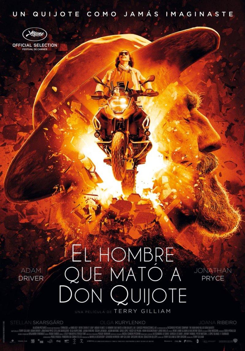 'El Hombre que mató a Don Quijote': Póster español de la película de Terry Gilliam