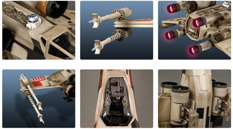 X-Wing, monta el legendario caza de Luke Skywalker