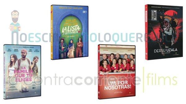 Lanzamientos de noviembre en DVD y Blu-ray de A Contracorriente Films