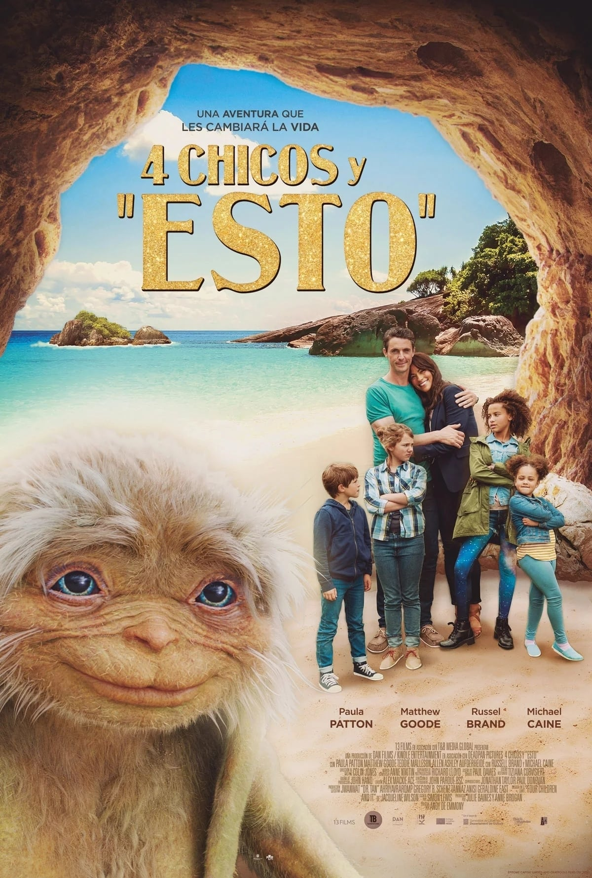 """Pósters de la película """"4 chicos y """"Esto"""""""""""