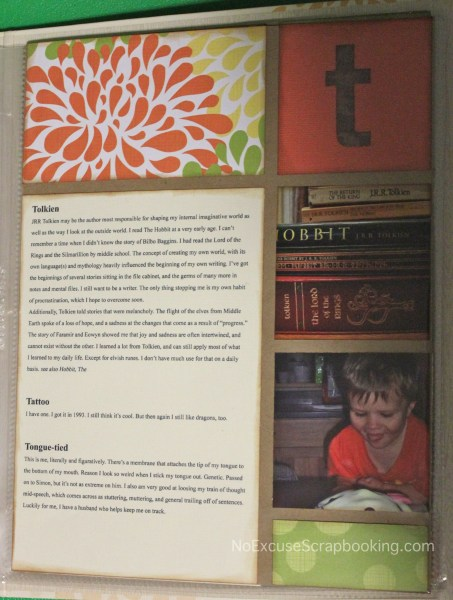 T || noexcusescrapbooking || design by Cathy Zielske