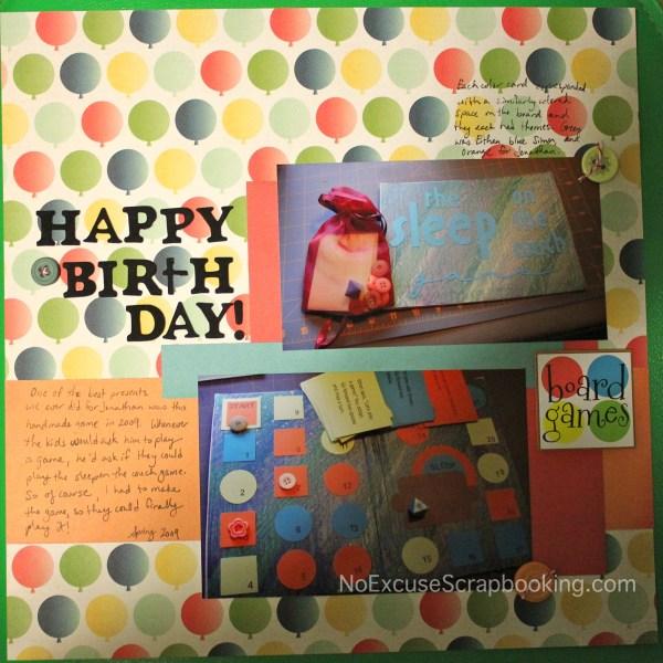 happy birthday || noexcusescrapbooking.com