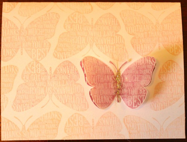 butterfly repetition card after || noexcusescrapbooking.com