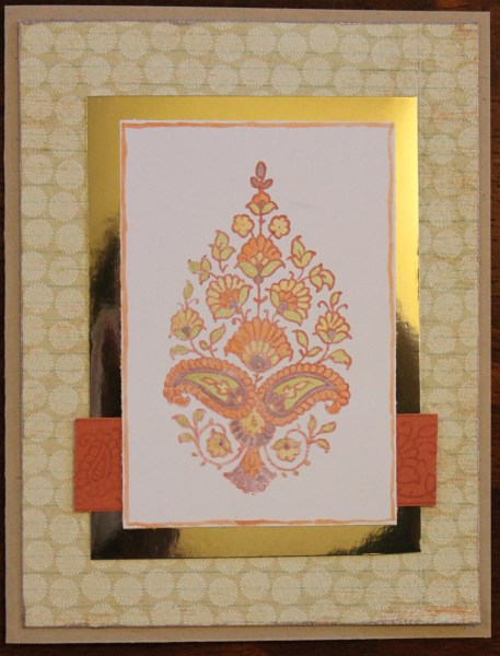 Henna inspired card || noexcusescrapbooking.com