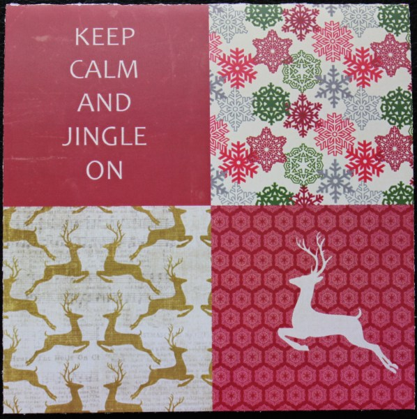 jingle card front || noexcusescrapbooking.com