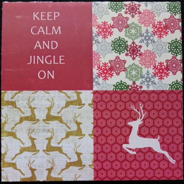 jingle card front || noexcusescrapbooking.com