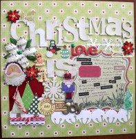 Christmas Is || noexcusescrapbooking.com