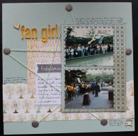 fan girl || noexcusescrapbooking.com