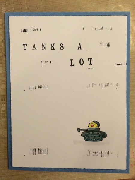 tanks a lot|| noexcusescrapbooking.com