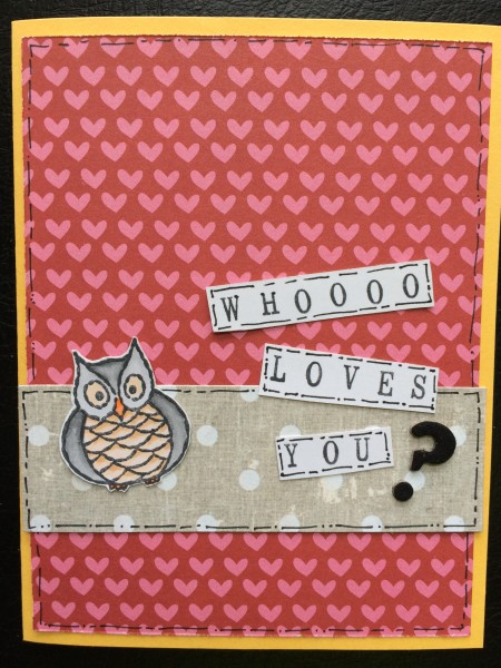 whoooo loves you || noexcusescrapbooking.com