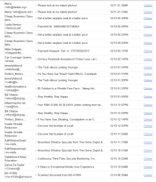 So, these are the emails that the service thinks might be real.
