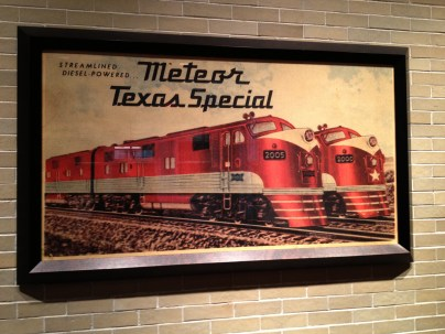 This meeting was being held in Union Station in Dallas. Lots of things to distract me.