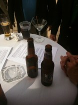 After some of thee meetings, adult beverages are served.