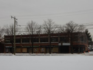 The Plaza Building. Once filled with retail and professional offices. Mostly vacant today.