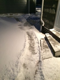 It starts with shoveling a path.