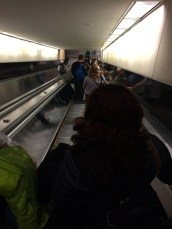 I love taking pictures of long escalators