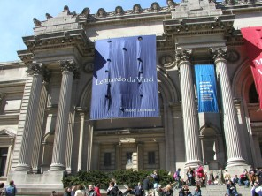Faith and I visited the Met Museum in 2003 to see the da Vinci exhibit.