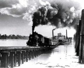 History on the lake. That's a train ferry.