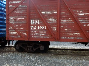 Boston and Main wooden boxcar