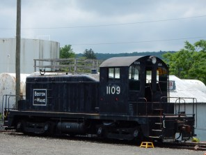 Some of the rolling stock on display was open to be toured.