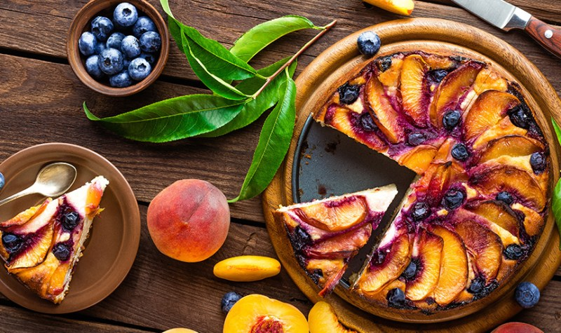 Roasted Peach Cheesecake