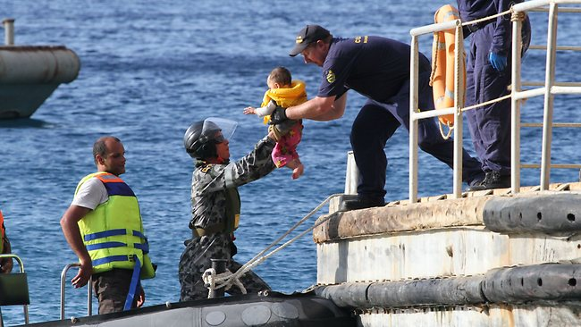 Asylum-seekers arrive at Christmas Island. Source: The Australian
