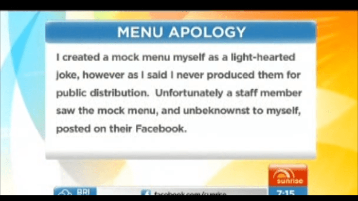 Sunrise Channel 7 showing Mr Joe Richards' email to Mal Brough
