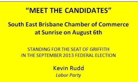 The Greens and Katter Party candidates in Rudd's Griffith Kingdom: @JanBowQLD