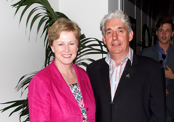Christine Milne with Griffith Candidate, Geoff-Ebbs