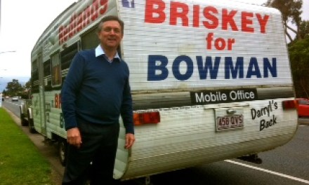 Briskey's back in Bowman: ex state MP riled by Qld sackings says locals are for turning