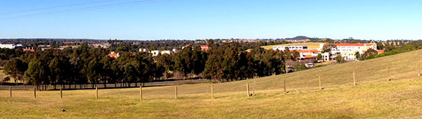 Overlooking UWS Campbelltown Campus Macarthur Square