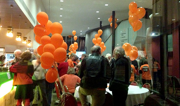 Orange Election Party  (Photo Margo Kingston)