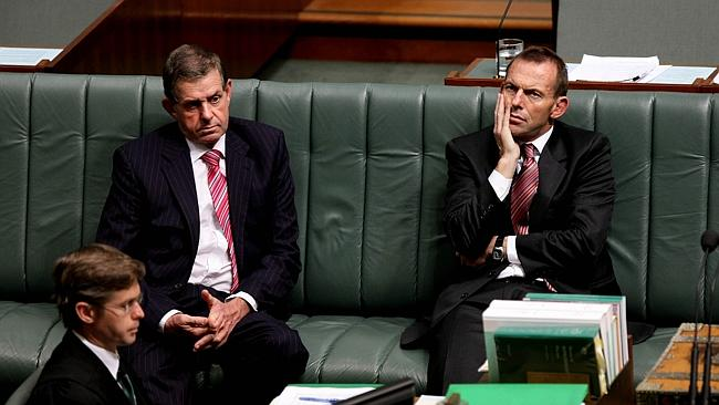 Peter Slipper and Tony Abbott in Parliament in 2009. - News.com.au