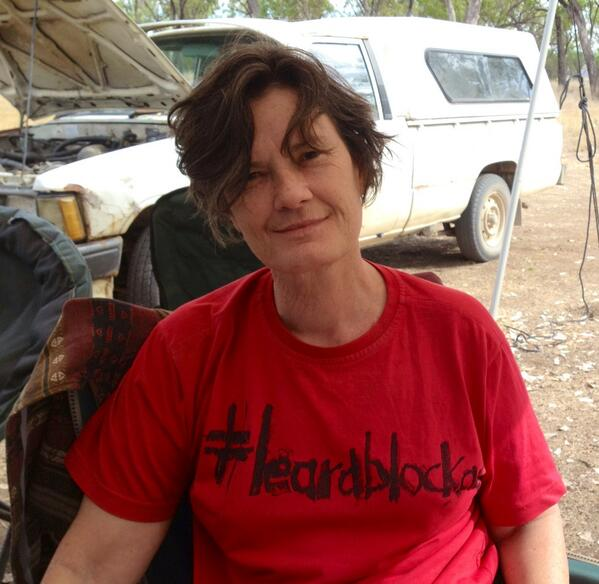 Margo Kingston at the #leardblockade