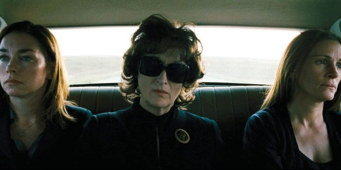 Julianne Nicholson, Meryl Streep and Julia Roberts in August: Osage County.